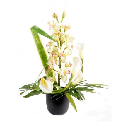 Bouquet De Cymbidium Artificiel