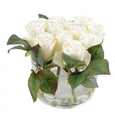 Bouquet de Roses Blanches Artificiel