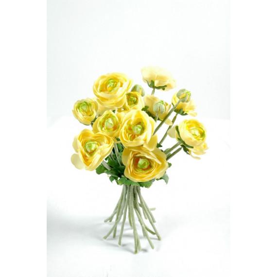 Bouquet de Rose Jaune Artificiel