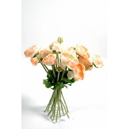 Bouquet de Rose Pêche Artificiel