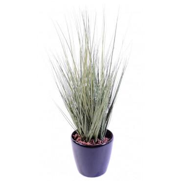 Bouquet d'Herbes Artificielles Gris/Vert - Ht 75 cm