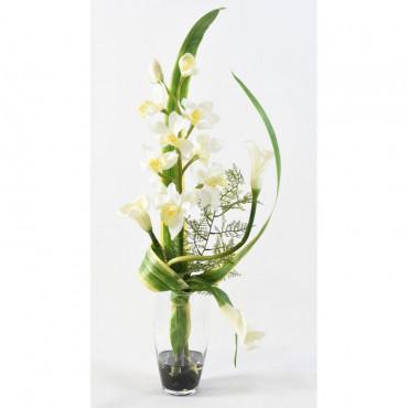 Bouquet Exotique Blanc Artificiel