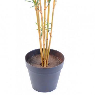 Bambou Extérieur Tronc Fin Artificiel - Résistant aux UVs - Pot